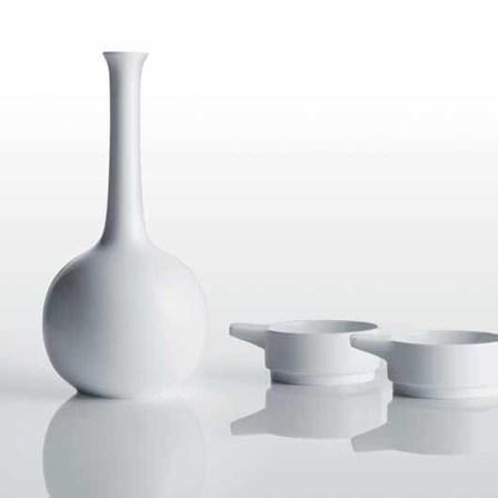 Vase in weiß FÜRSTENBERG Wilhelm Wagenfeld